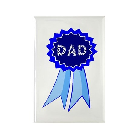 Dad's Blue Ribbon Rectangle Magnet (10 pack)