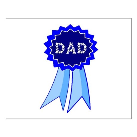 Dad's Blue Ribbon Small Poster