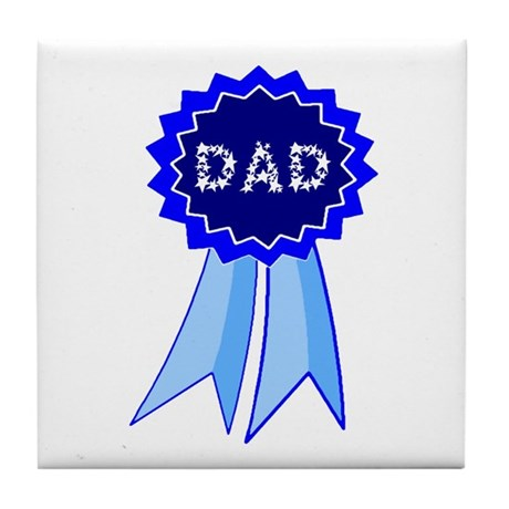 Dad's Blue Ribbon Tile Coaster