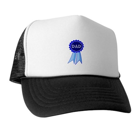Dad's Blue Ribbon Trucker Hat