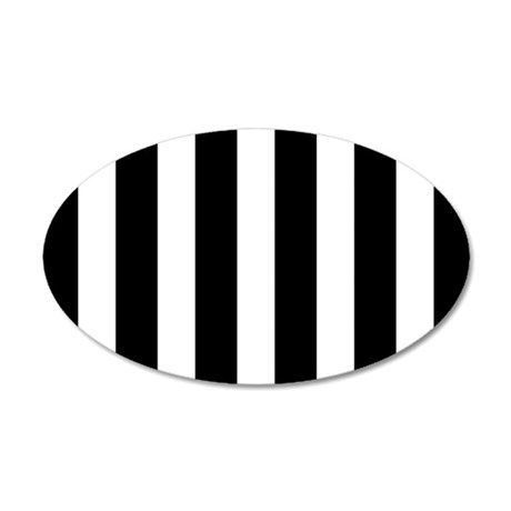 Black And White Vertical Stripes Wall Decal