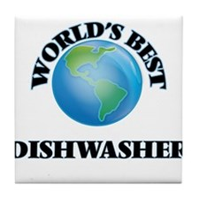 World's Best Dishwasher Tile Coaster