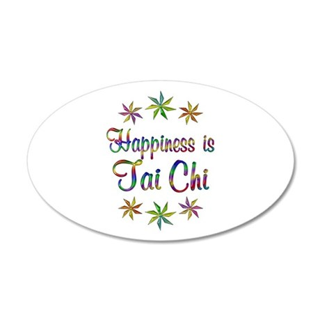 Happiness is Tai Chi 20x12 Oval Wall Decal