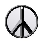 Black and Silver Peace Sign (ornament)
