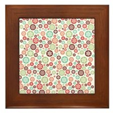 Snowflake Pattern Small Framed Tile