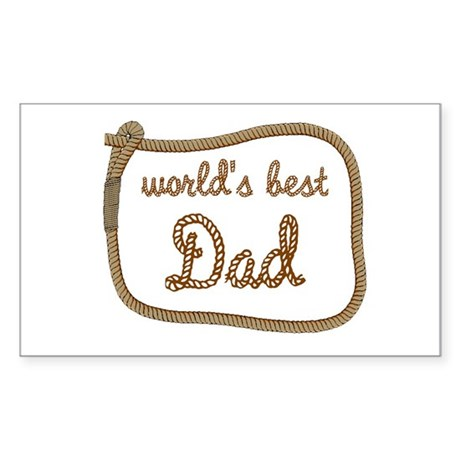 Best Dad Rectangle Sticker