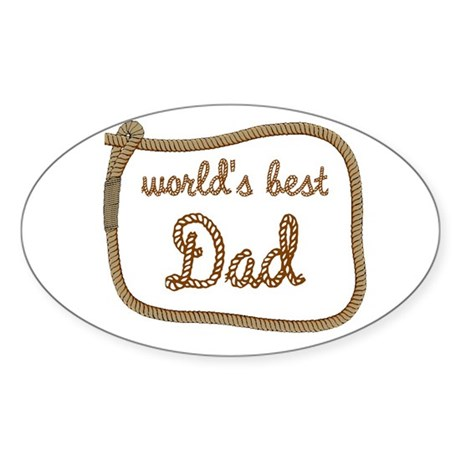 Best Dad Oval Sticker