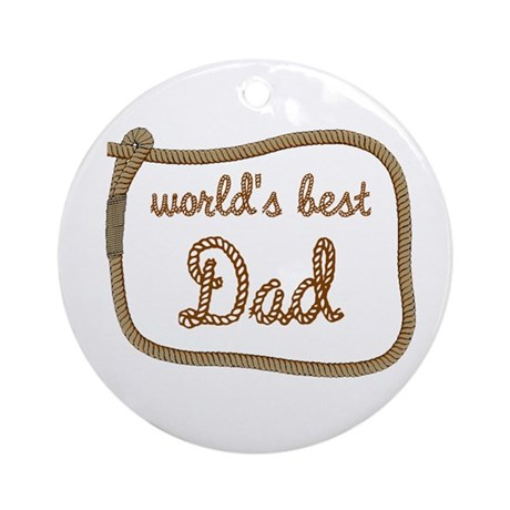 Best Dad Ornament (Round)