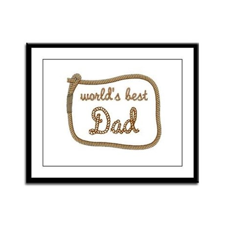 Best Dad Framed Panel Print