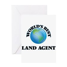 World's Best Land Agent Greeting Cards
