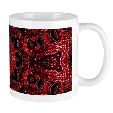 Vintage red floral bohemian pattern Mugs