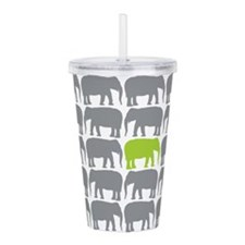 One Green Elephant in the Herd Acrylic Double-wall