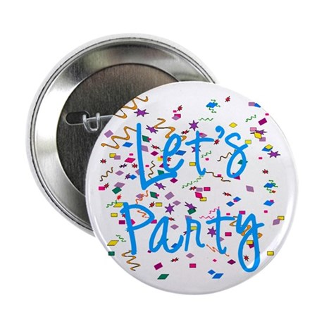 "Let's Party 2.25"" Button (10 pack)"