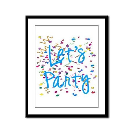 Let's Party Framed Panel Print