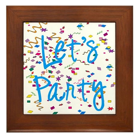 Let's Party Framed Tile