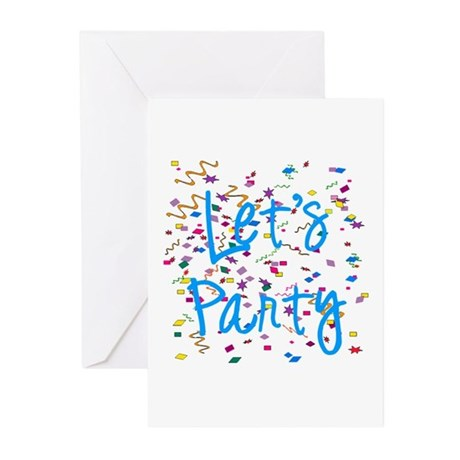 Let's Party Greeting Cards (Pk of 10)