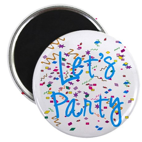 "Let's Party 2.25"" Magnet (100 pack)"