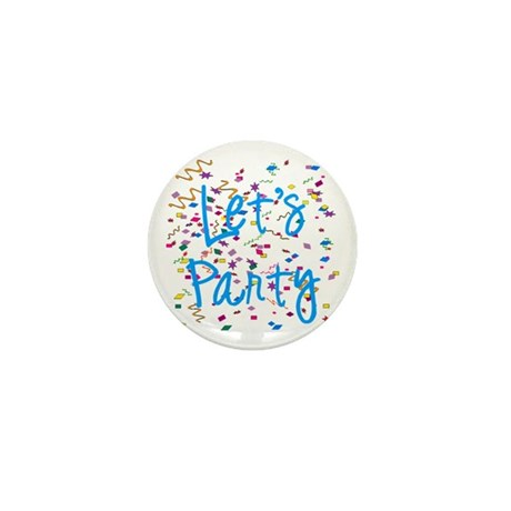 Let's Party Mini Button (100 pack)