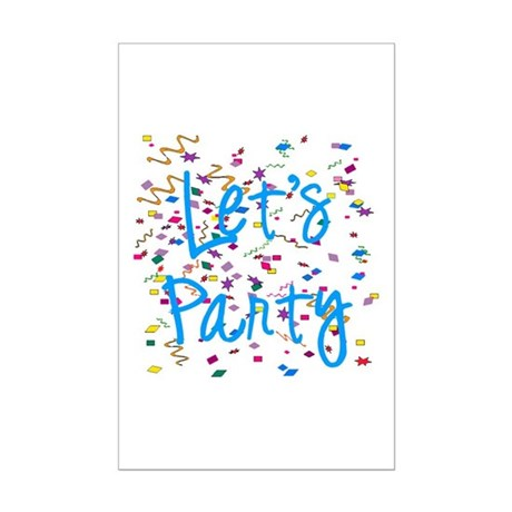 Let's Party Mini Poster Print