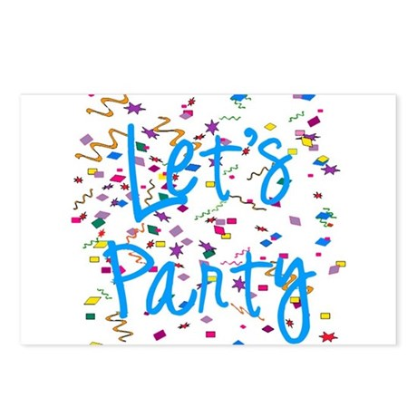 Let's Party Postcards (Package of 8)
