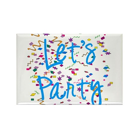 Let's Party Rectangle Magnet (100 pack)