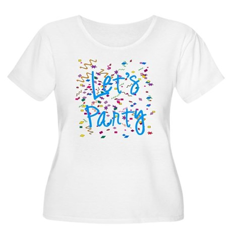 Let's Party Women's Plus Size Scoop Neck T-Shirt