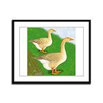Goose and Gander Framed Panel Print