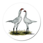 Modern Game Bantams Round Car Magnet