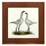 Modern Game Bantams Framed Tile