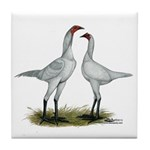 Modern Game Bantams Tile Coaster