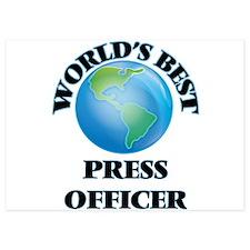 World's Best Press Officer Invitations