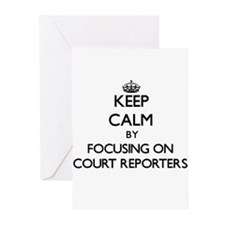 Keep Calm by focusing on Court Repo Greeting Cards