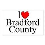 &quot;I Love Bradford County&quot; Rectangle Decal