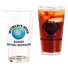 World's Best Radio Studio Manager Drinking Glass