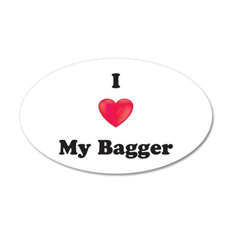 I Love My Bagger 35x21 Oval Wall Decal