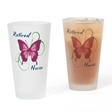 Retired Nurse (Butterfly) Drinking Glass