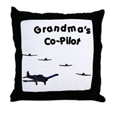 Grandma's Co-Pilot Throw Pillow