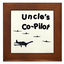 Uncle's Co-Pilot Framed Tile