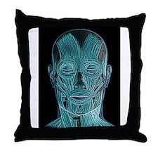 Contemplating the inner man Throw Pillow