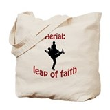 Aerial: leap of faith. Tote Bag