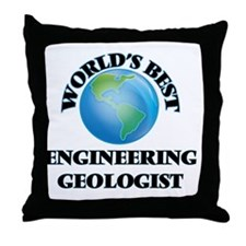 World's Best Engineering Geologist Throw Pillow