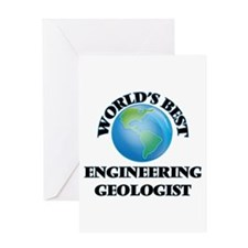 World's Best Engineering Geologist Greeting Cards
