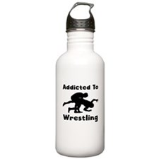 Addicted To Wrestling Water Bottle