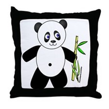 Lucky Panda Throw Pillow