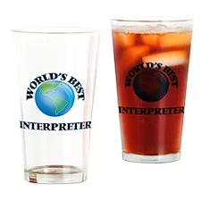 World's Best Interpreter Drinking Glass