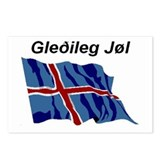 Iceland Christmas Flag Postcards (Package of 8)