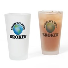 World's Best Broker Drinking Glass