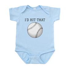 Id Hit That Baseball Body Suit