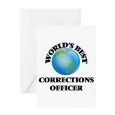World's Best Corrections Officer Greeting Cards