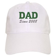Dad since 2008 (green) Baseball Cap